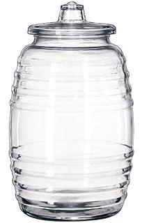 Mexican 10 Liter Glass Agua Fresca Beverage Barrel Jar