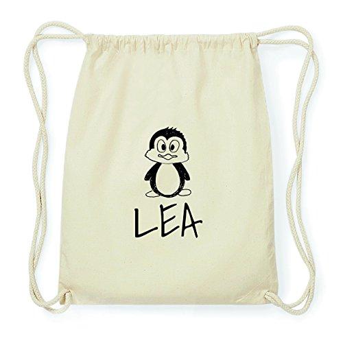 JOllipets LEA Hipster Turnbeutel Tasche Rucksack aus Baumwolle Design: Pinguin Mlikg0zG9A
