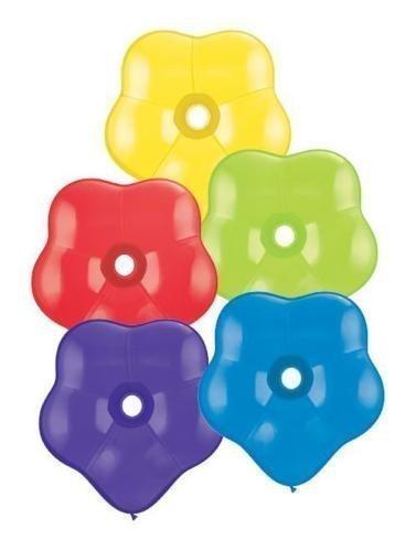 Qualatex 16 Inch Geo Blossom Latex Balloons (Radiant Assortment, 25 ()