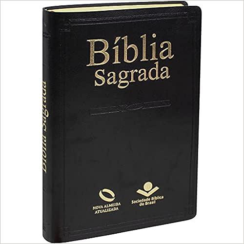 Bíblia Sagrada Nova Almeida Atualizada - Capa couro sintético preta: Nova Almeida Atualizada (NAA)