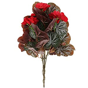 FidgetFidget Artificial Begonia Flower Decorative Flowers Great Gift of Flora 88