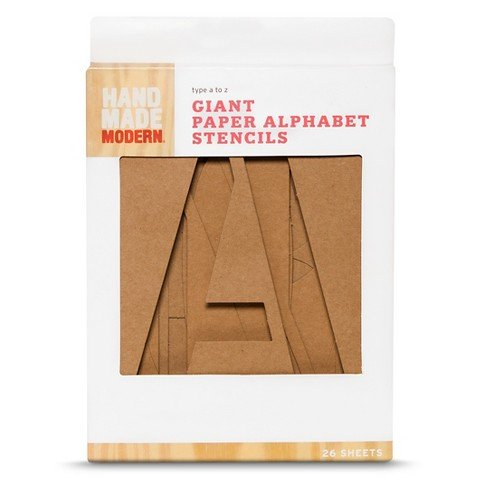 Hand Made Modern – Giant Paper Alphabet Stencils – 26 ct
