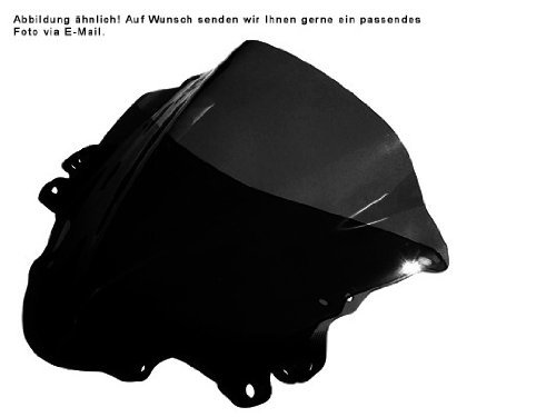 Windshield Spoilerscreen Mra (MRA SpoilerScreen Windshield for Kawasaki EX500 Ninja/GPZ500S, 94- (SHADOW LINE BLACK))