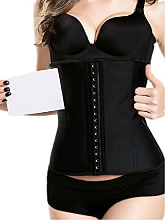 iSZEYU Womens Latex Waist Trainer Corset for Weight Loss