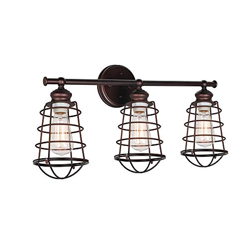 (Design House 519736 Ajax 3 Light Vanity Light, Bronze)