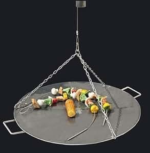 Wokschale / Deckel für Feuerschalen Eisen 55cm