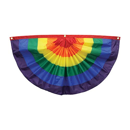 Rainbow Bunting - In the Breeze Pleated Fan Rainbow