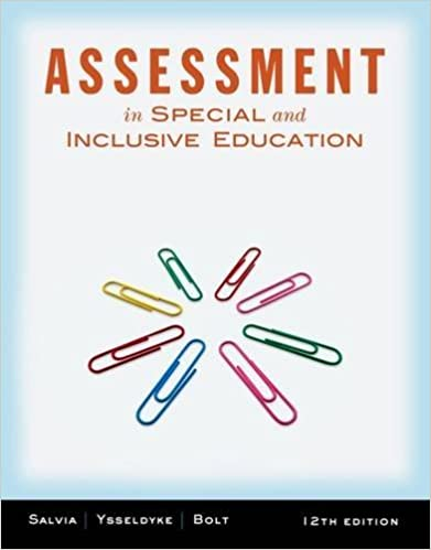 Assessment: In Special and Inclusive Education by John Salvia (2012-01-01)