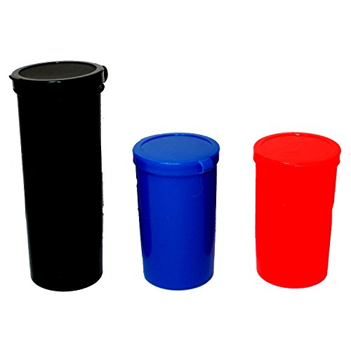Set of 3 Pog Tubes - Assorted Colors