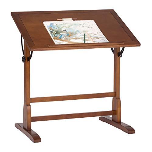 Studio Designs 36 X 24 Inch Vintage Drafting Table Rustic Oak
