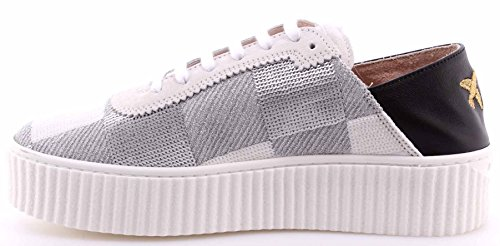 Sneakers Argent Mujer Zapatos Blanco Bianco Baby Paillettes PINKO Ungherse Shine 16nq5qSwTx
