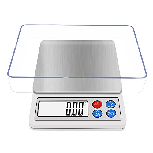 Pocket Pc Multiplayer - NEXT-SHINE POC-8006 Digital Gram Scale 600g/0.01g Portable Use Multi-functionals Pro Scale with LCD Display, Tare, PCS, Back-lit for Home, Kitchen, School, Laboratory