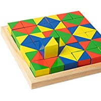 Wooden cubes find pattern building blocks children's educational toys improve memory attention logic creativity creativity imagination learning toys(5.51 * 5.51 * 0.86in)