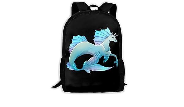 2824a2c7da15 Amazon.com: ForNIBag Unicorn Geek Graphic School Backpack Daypacks ...