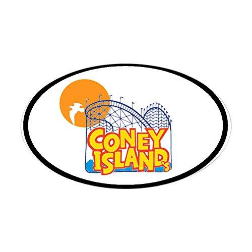 CafePress Coney Island Oval Sticker Oval Bumper Sticker, Euro Oval Car Decal