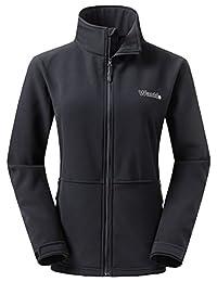 Wantdo Women's Softshell Jacket Outdoor Windproof Sports Outerwear Coat