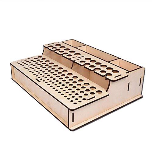 NW Wooden Leather Tools Storage Box Shelf Leather Tool Organizer Wood Box Leather Tool Holder Leather Craft Tools Holder Punch Tools Storage Box Organizer (104)