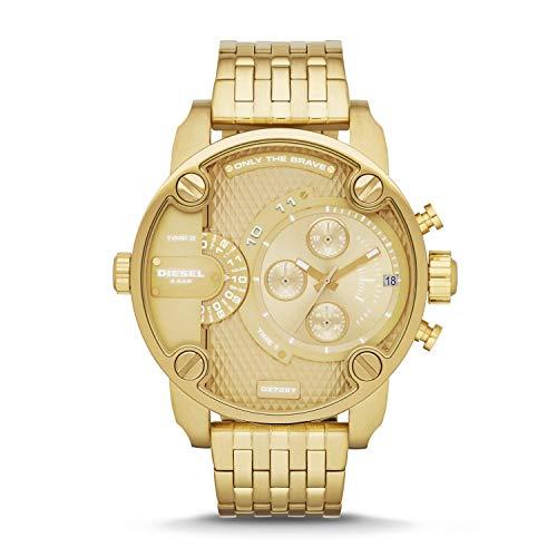 Diesel Men's Watch Little Daddy Quartz Stainless Steel Gold with Gold Dial DZ7287