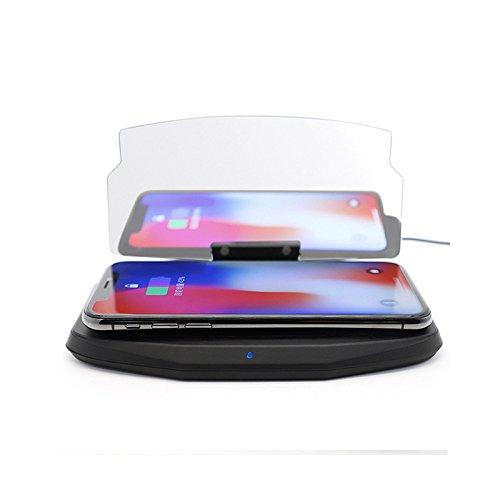 meiboall車HUDヘッドアップディスプレイ、多機能6.5インチスマート電話ナビゲーションHD反射表示ブラケットワイヤレス充電電話ホルダー B07C6KS6KQ