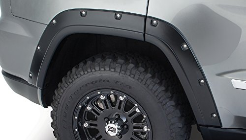 - Bushwacker 10076-02 OE Black Pocket Style Rear Fender Flare for Jeep Grand Cherokee - Pair
