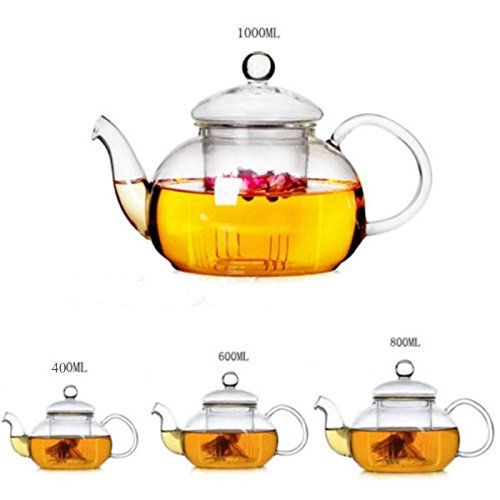 Glass Filtering Tea Maker Teapot 400ml personal tea pot BY BA Collections