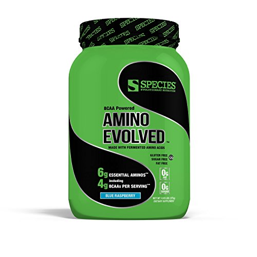 Species Nutrition Amino Evolved, Blue Raspberry, 1 Pound