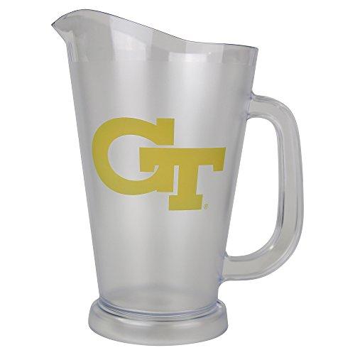 NCAA 64 oz Plastic Drink Pitcher (Georgia Tech Yellow (Pitchers Jacket)