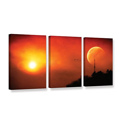 "UPC 640823458512, ArtWall 3 Piece ""Dragos Dumitrascu's Above The Sun"" Gallery Wrapped Canvas Artwork, 24"" x 48"""