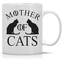Mother Of Cats Mug - Funny Cat Mug - 11OZ Coffee Mug - Mugs For Women – Angry Cat Mug, Grumpy Cat Mug - Perfect Gift for Mother's Day - By AW Fashions