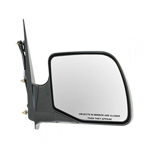 Power Door Mirror Right Passenger Side for 94-06 Ford E350 Van E150 (Mirror Power Black Paddle Design)