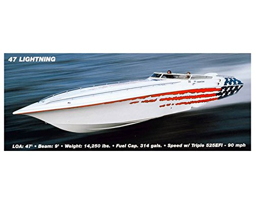 2002 Fountain 47 Lightning Power Boat Photo Poster