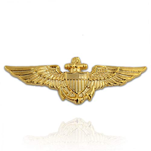 (Pin for Jackets - Gold Plated US Navy/US Marine Corps Aviator Wing Military Lapel Pin - Accessories for Men and Women)