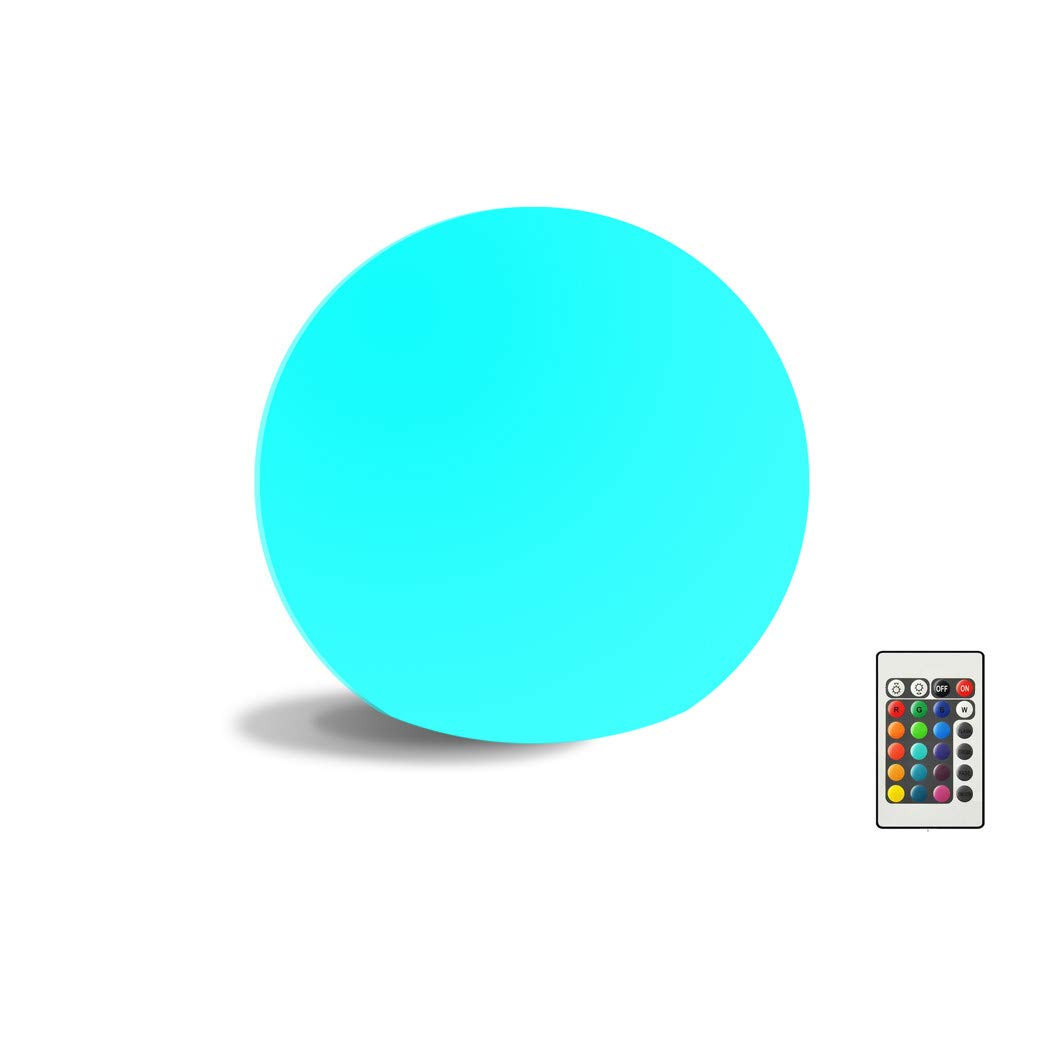 LED Ball Light LittleBee 6 Inch 16 Color Changing Floating Pool Light IP68 Waterproof Rechargeable with Remote Control Cordless for Garden & Patio Decorative Lighting (6-inch Ball)