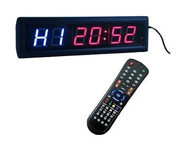 """Godrelish 1.8"""" Reloj de pared LED gimnasio de Crossfit temporizador de intervalos Cronómetro con control"""