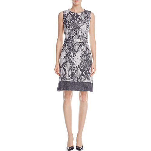 Hugo Boss Womens Daneki Snake Print Twill Special Occasion Dress Gray - Ladies Hugo Boss