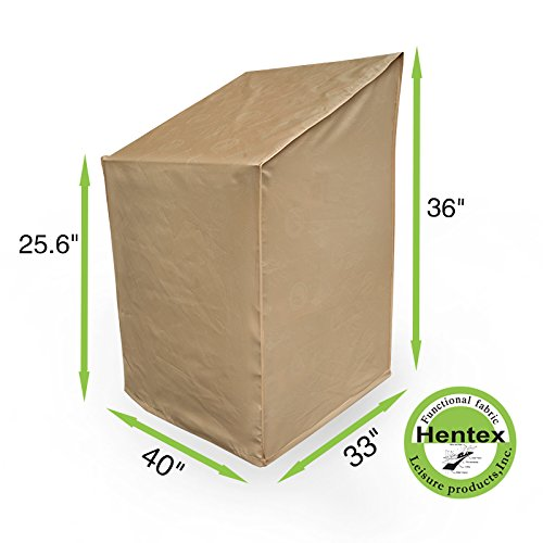 Hentex Cover Outdoor Garden High Back Chair Cover, Water Resistant, Breathable, Laminated Advanced Functional 3-layered Fabric, 3 Year Warranty (40