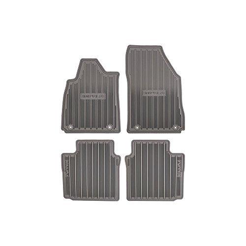 GMC OEM New Front/Rear All Weather Floor Mats Titanium w/Logo 15-18 Impala 23238785