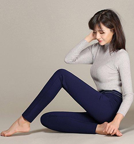 Pantalons Skinny Crayon Stretch Yilianda Slim Legging Haute Bleu Casual Femme Jambière Taille HwBq58