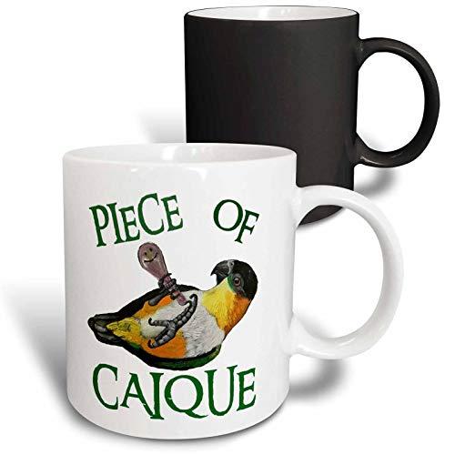 3dRose Skye Elizabeth Designs - Black Headed Caique with rattle - 15oz Mug (mug_308314_2) - 11-oz magic transforming mug