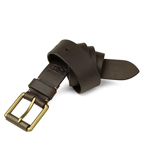 Timberland PRO Men's 40mm Workwear Leather Belt, dark brown/Roller buckley, 32
