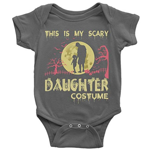 My Daughter Baby Bodysuit, My Scary Daughter Costume Cute Baby Bodysuit (NB, Baby Bodysuit - Dark Gray)