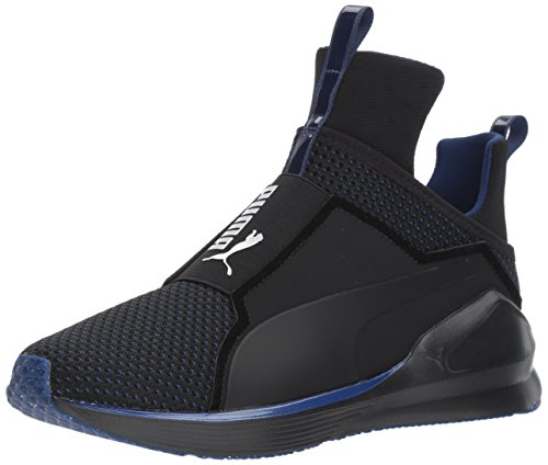 PUMA Women's Fierce Velvet Rope Wn Sneaker, Black-Icelandic Blue, 9 M US