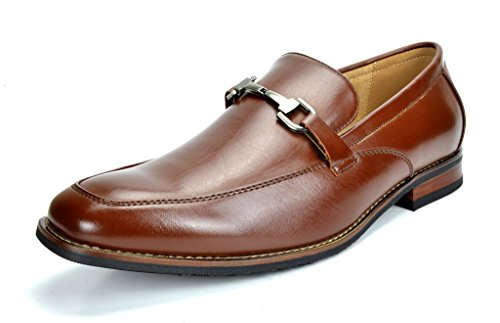 Bruno Marc Men's Charter-3 Dark Brown Leather Lined Dress Loafers Shoes - 9 M US ()