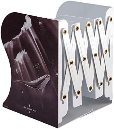 IAIZI Aktenhalter Retractable Buch Ständer Klappbuchhalter Einfaches Eisen Bücherregal Studenten Lagerung Regal Convenience (Farbe: D) ZGHE (Color : A)