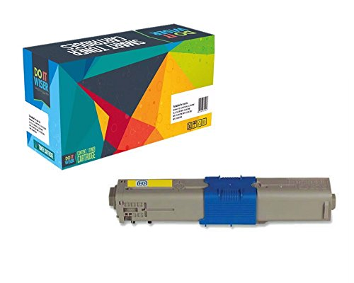 Do it Wiser Compatible Toner Cartridges for Okidata C330 C330DN MC361 C310dn C310n C510dn C530dn MC561dn C331DN C531DN MC361MFP Yellow