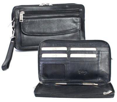 d0c6b350a37 Anti-Theft Men Clutch Handbags RFID Men Cowhide Genuine Leather ...