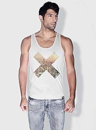 Creo Beirut X City Love Tanks Tops For Men - Xl, White
