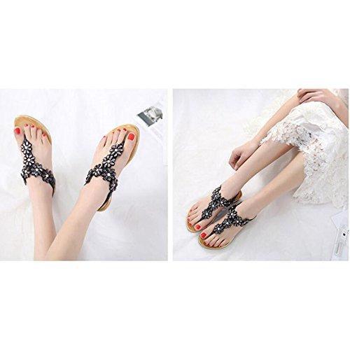 Sandales Bride De Pour Strass Femmes Mode T Strap r8zPrq