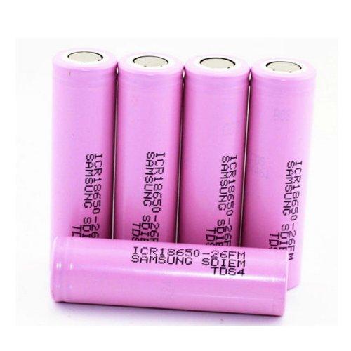 ICR18650-26F 2600mAh 3.6v Rechargeable Li-ion Battery 2PCS