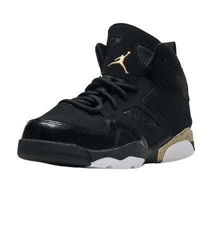NIKE Jordan FLTCLB '91 (PS) Boys Fashion-Sneakers 555470-031_13C - Black/Metallic Gold-White by NIKE